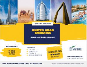 90 Days visit Visa UAE Services For Tourism & Family Visit